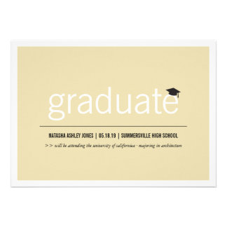 Foto graduada moderna simplemente intemporal de la invitaciones personalizada
