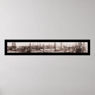 Foto grande 1920 del aceite TX de la producción Poster