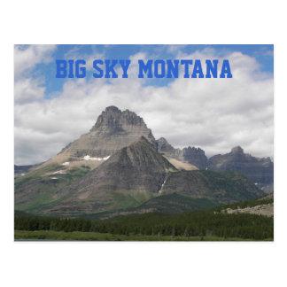 Foto grande del viaje de Montana del cielo Tarjeta Postal