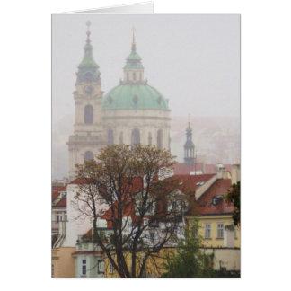 Foto hermosa de la ciudad vieja Praga Tarjeta De Felicitación