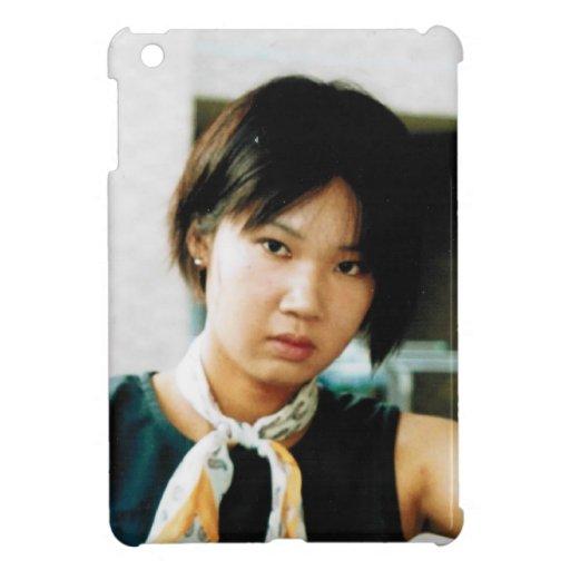 Foto hermosa de la mujer iPad mini protectores
