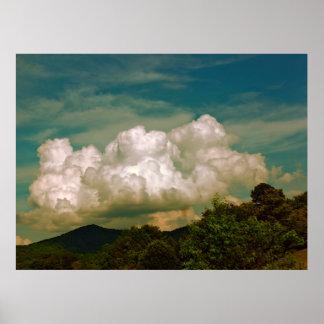 Foto hermosa del cielo de la naturaleza de la nube póster