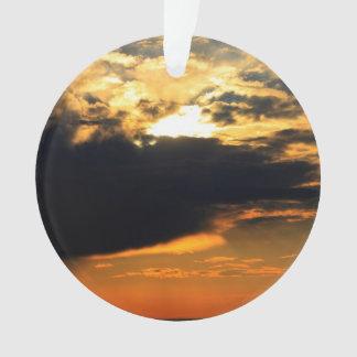 Foto hermosa del paisaje de la puesta del sol de l
