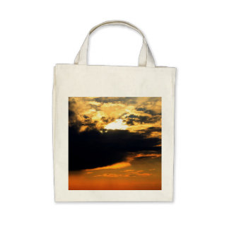 Foto hermosa del paisaje de la puesta del sol de l bolsas
