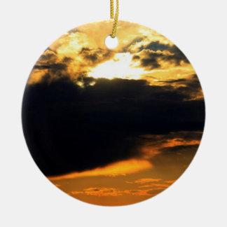 Foto hermosa del paisaje de la puesta del sol de l adornos