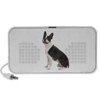 Foto hermosa del perro de Boston Terrier, regalo PC Altavoces