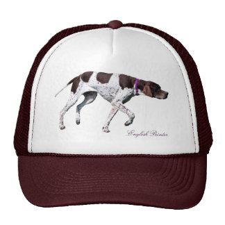 Foto hermosa del perro inglés del indicador, gorra