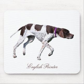 Foto hermosa del perro inglés del indicador, regal tapete de ratones