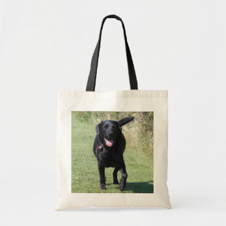 Foto hermosa del perro negro del labrador retrieve bolsa tela barata