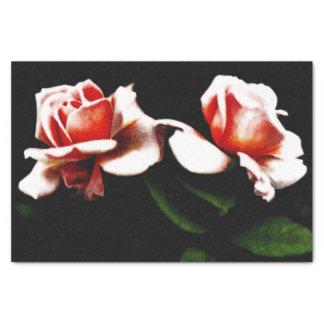 Foto híbrida del rosa de té del vintage papel de seda pequeño