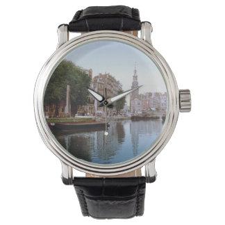 Foto-Imagen de Amsterdam del vintage Reloj