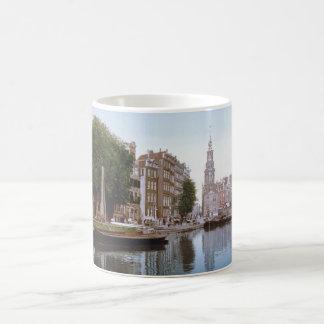 Foto-Imagen de Amsterdam del vintage Taza Clásica
