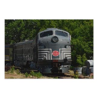 Foto impresión locomotoras centrales de Nueva York
