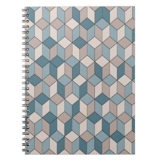Foto inconsútil abstracta de la textura (80 libretas espirales