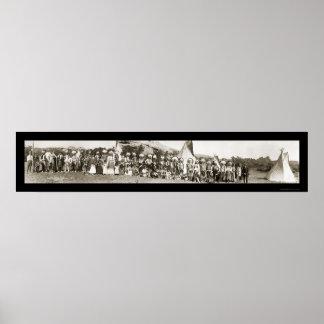 Foto india 1913 del campo del Ute Posters