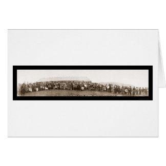Foto india 1914 del día del tratado felicitacion
