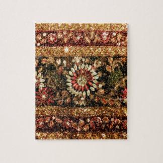 Foto india moldeada de la sari puzzle con fotos