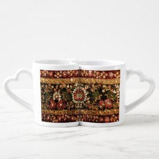 Foto india moldeada de la sari tazas para enamorados