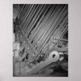 Foto industrial - barras del ojo del cable de la t posters