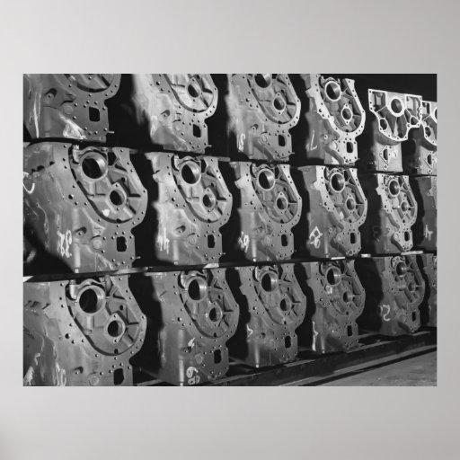 Foto industrial - bloques de motor de la media pis impresiones
