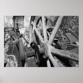 Foto industrial - cigüeñal de la destilería del ro impresiones