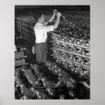 Foto industrial - cigüeñales WW2 de la media pista Posters