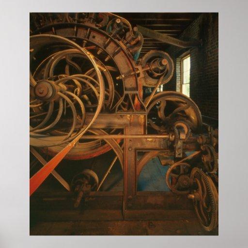 Foto industrial - máquina de cardado del molino poster