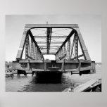 Foto industrial - puente del ferrocarril poster