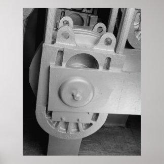 Foto industrial - zapato de cable del puente del S Posters