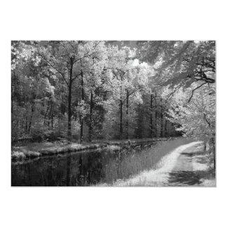 """foto infrarroja de un viejo canal invitación 5"""" x 7"""""""