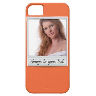 foto inmediata - photoframe - en el naranja funda para iPhone SE/5/5s