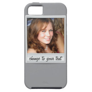 foto inmediata - photoframe - en gris funda para iPhone SE/5/5s