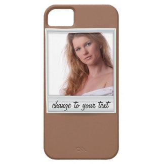 foto inmediata - photoframe - en marrón funda para iPhone SE/5/5s