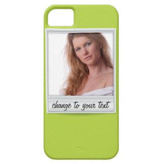foto inmediata - photoframe - en verde lima funda para iPhone SE/5/5s