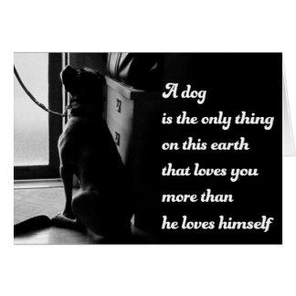 Foto inspirada blanco y negro del perro tarjeta de felicitación