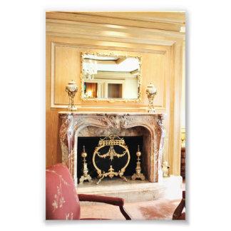 foto interior elegante de la chimenea fotografía