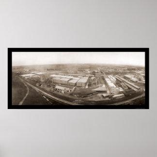 Foto internacional 1907 de la máquina segador de P Poster