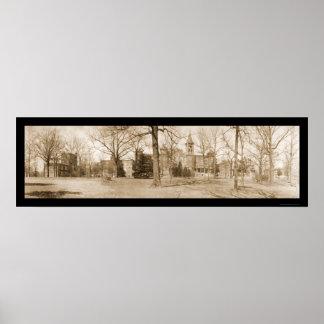 Foto inversa 1909 del SC de la universidad Póster