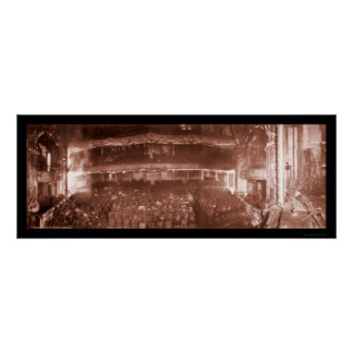 Foto Iroquois 1903 del fuego del teatro Poster