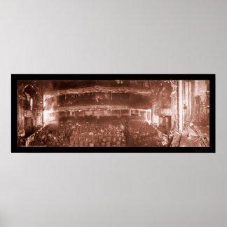 Foto Iroquois 1903 del fuego del teatro Póster