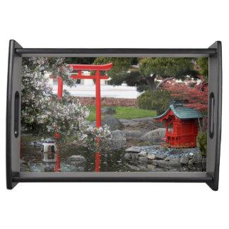 Foto japonesa del jardín de la primavera bandejas