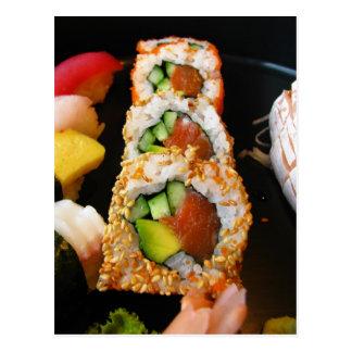 Foto japonesa Japón del sashimi del rollo de Postales
