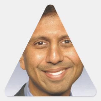 foto jindal del bobby pegatina triangular