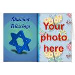 Foto judía del personalizado del día de fiesta de  felicitacion