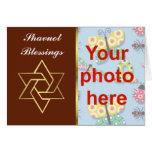 Foto judía del personalizado del día de fiesta de  tarjeton