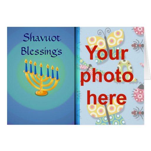 Foto judía del personalizado del día de fiesta de  tarjetón