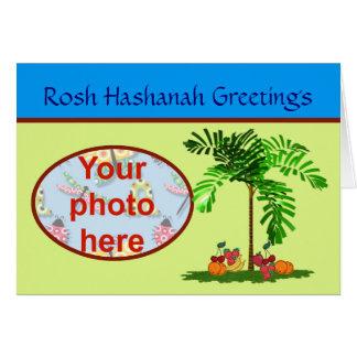 Foto judía del personalizado del día de fiesta de tarjeta de felicitación
