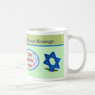 Foto judía del personalizado del día de fiesta de  tazas