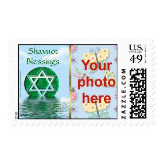 Foto judía del personalizado del día de fiesta de timbres postales