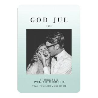 Foto Julkort | Blå Ombre Card
